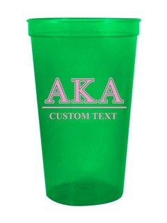 Alpha Kappa Alpha Custom Greek Symbolized Stadium Cup