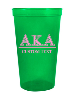 Alpha Kappa Alpha Custom Greek Symbolized Stadium Cup