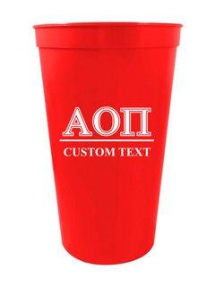 Alpha Omicron Pi Custom Greek Symbolized Stadium Cup