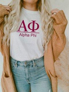 Alpha Phi Comfort Colors Heavyweight T-Shirt