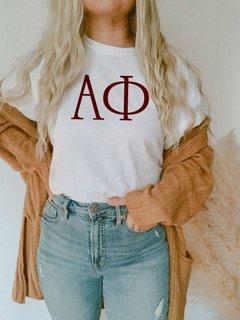 Alpha Phi University Greek T-Shirts