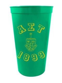 Alpha Sigma Tau Custom Greek Crest Est Stadium Cup