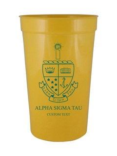 Alpha Sigma Tau Custom Greek Crest Letter Stadium Cup