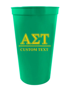 Alpha Sigma Tau Custom Greek Symbolized Stadium Cup