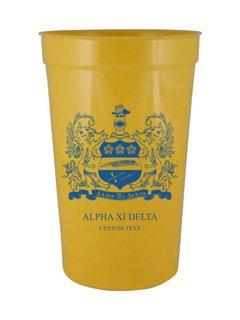Alpha Xi Delta Custom Greek Crest Letter Stadium Cup