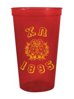 Chi Omega Custom Greek Crest Est Stadium Cup