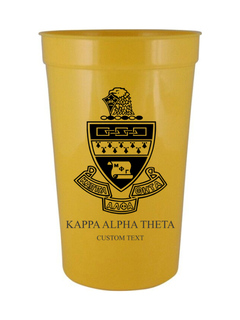 Custom Greek Crest Letter Stadium Cup