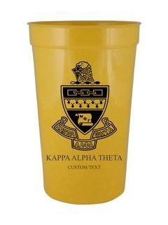 Custom Greek Crest Letter Stadium Cup