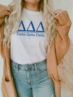 Delta Delta Delta Comfort Colors Heavyweight T-Shirt