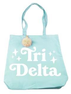 Delta Delta Delta Retro Pom Pom Tote Bag