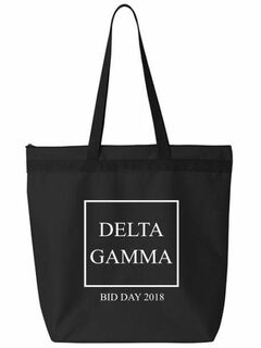 Delta Gamma Box Tote bag