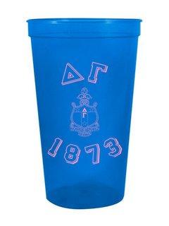 Delta Gamma Custom Greek Crest Est Stadium Cup
