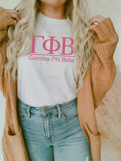 Gamma Phi Beta Comfort Colors Heavyweight T-Shirt