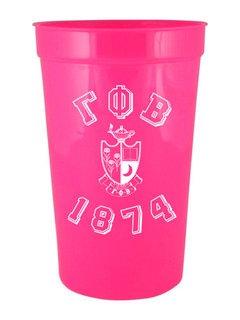 Gamma Phi Beta Custom Greek Crest Est Stadium Cup