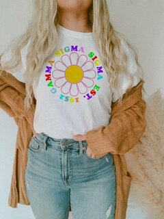 Gamma Sigma Sigma Rainbow Daisy Tee