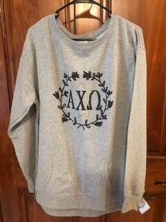 New Super Savings - Alpha Chi Omega Crewneck - GREY