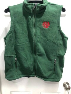 New Super Savings - Alpha Chi Omega Fleece Vest - GREEN