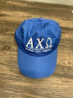 New Super Savings - Alpha Chi Omega World Famous Line Hat - BLUE