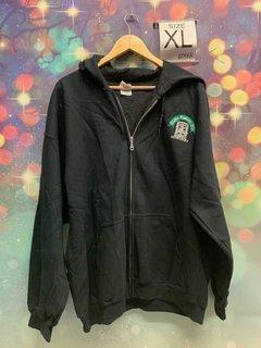 New Super Savings - Alpha Epsilon Phi Crest Emblem Full Zip Jacket - BLACK