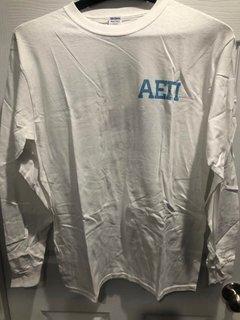New Super Savings - Alpha Epsilon Pi Flag Long Sleeve T-Shirt - WHITE