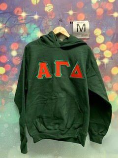 New Super Savings - Alpha Gamma Delta Lettered Sweatshirt Hoodie - GREEN