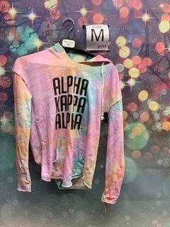 New Super Savings - Alpha Kappa Alpha Angel Terry Rainbow Sherbet Nora Pullover - TIE DYE