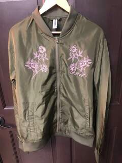 New Super Savings - Alpha Kappa Alpha Bomber Jacket - ARMY GREEN
