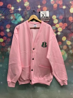 New Super Savings - Alpha Kappa Alpha Cardigan Sweatshirt - PINK 1 of 2