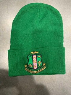 New Super Savings - Alpha Kappa Alpha Crest Beanie - GREEN 1 of 2