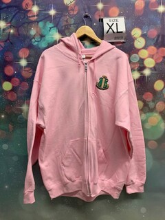 New Super Savings - Alpha Kappa Alpha Crest Emblem Full Zip Jacket - PINK