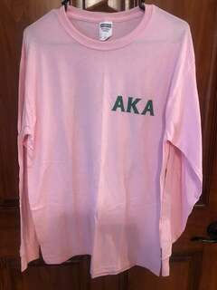 New Super Savings - Alpha Kappa Alpha Crest Long-Sleeved T-Shirt - LIGHT PINK