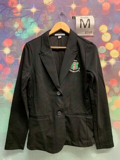 New Super Savings - Alpha Kappa Alpha Crest Shield Blazer - BLACK