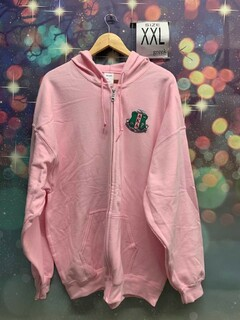 New Super Savings - Alpha Kappa Alpha Crest - Shield Patch Full Zip Jacket - PINK