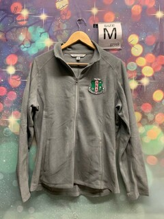 New Super Savings - Alpha Kappa Alpha Crest - Shield Patch Ladies Microfleece Jacket - GREY