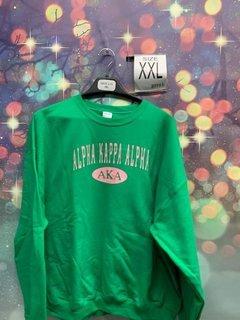New Super Savings - Alpha Kappa Alpha Crewneck Sweatshirt - GREEN