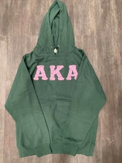 New Super Savings - Alpha Kappa Alpha Custom Twill Hooded Sweatshirt - GREEN