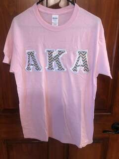 New Super Savings - Alpha Kappa Alpha Custom Twill Tee - LIGHT PINK