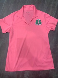 New Super Savings - Alpha Kappa Alpha Emblem Polo - PINK