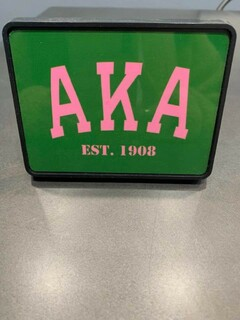 New Super Savings - Alpha Kappa Alpha Established Trailer Hitch - GREEN