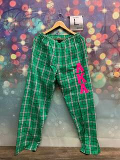 New Super Savings - Alpha Kappa Alpha Flannel Pant - GREEN
