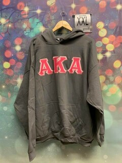 New Super Savings - Alpha Kappa Alpha Lettered Hooded Sweatshirts - GREY