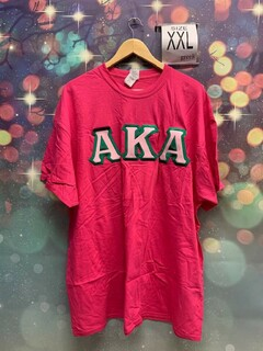 New Super Savings - Alpha Kappa Alpha Lettered T-Shirt - PINK