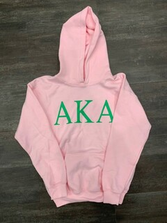 New Super Savings - Alpha Kappa Alpha Lettered World Famous Greek Hoodie - PINK