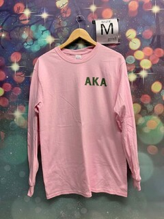 New Super Savings - Alpha Kappa Alpha Long Sleeve T-Shirt - PINK 1 of 2