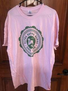 New Super Savings - Alpha Kappa Alpha Old Style Classic T-Shirt - LIGHT PINK