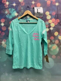 New Super Savings - Alpha Kappa Alpha Quarter Sleeve Tee - MINT
