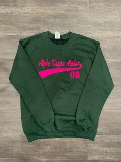 New Super Savings - Alpha Kappa Alpha Tail Crewneck - GREEN