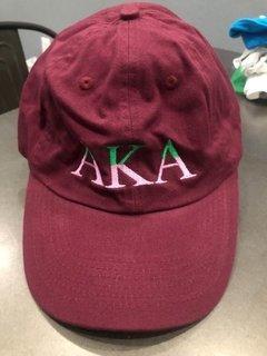 New Super Savings - Alpha Kappa Alpha Two Tone Letter Hat - MAROON