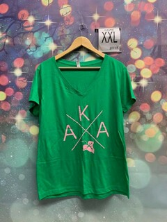 New Super Savings - Alpha Kappa Alpha V-Neck - GREEN
