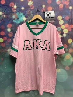 New Super Savings - Alpha Kappa Alpha Vintage Sport Tee - PINK